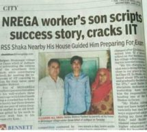NREGA worker's son scripts success story, cracks IIT
