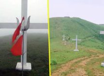 Double standards! CPM Government says NO to removal of illegal crosses from temple land