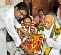 सरसंघचालक ने दुर्गा मंदिर में की प्रार्थना