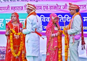 राजस्थान में 122 जोड़ों का सामूहिक विवाह