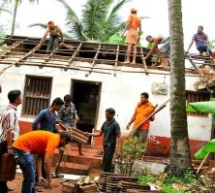 BMS volunteers Steps in, re-constructed damaged house at Nellikkunnu of Kasaragod