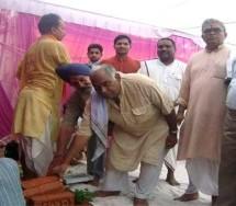 भारतीय किसान संघ के कार्यालय का पुनर्निर्माण का शुभारम्भ