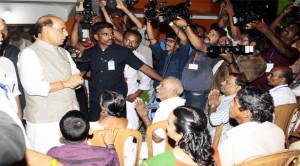 Rajnath ji brief to media in Kerala