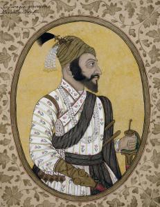 ब्रिटिश संग्रहालय मे स्थित छत्रपति शिवाजी का चित्र