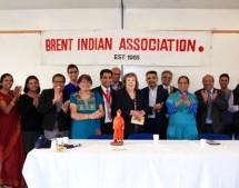 Swami Vivekananda's Statue Presented by VHP UK to Brent Indian Association