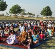 अंतर्राष्ट्रीय योग दिवस पर योग शिविर का आयोजन