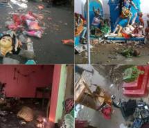 बांग्लादेश में 15 हिन्दू मंदिरों को ध्वस्त किया, सैकड़ों घरों में लूटपाट व आगजनी