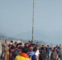 देहरादून के 'हरिक्षेत्र' में धर्मध्वजा स्थापित