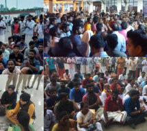 Tension mounts as devotees block Trupti for 5 hrs at Kochi airport; police bid to smuggle her out foiled