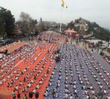रिज मैदान पर 1300 छात्राओं का मेगा डेमॉन्स्ट्रेशन