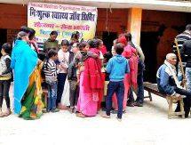 325 स्थानों पर 35 हजार लोगों का निःशुल्क स्वास्थ्य परीक्षण