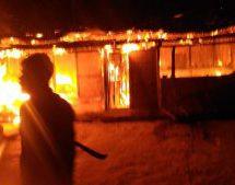 बराक घाटी में हिन्दुओं के घरों में आग लगाई, मंदिर की मूर्तियां तोड़ीं