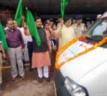 सेवा भारती व रेलटेल के चल चिकित्सा वाहनों का लोकार्पण