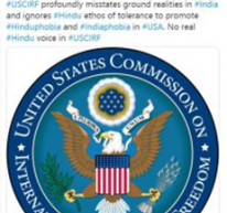 Hinduphobic USCIRF – India rejects prejudiced observations on religious freedom