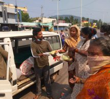 ABVP workers rushed to help Visakha sufferers