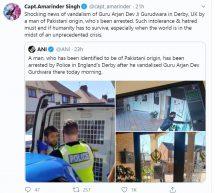 UK – Pakistani vandalises Gurudwara; posts note on Kashmir
