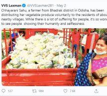 Odisha – Woman farmer distributes 15000 kgs of vegetables among needy people of 20 villages