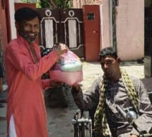 #Seva4Society – Raju, a Divyang from Pathankot has distributed a month's ration to more than 100 families