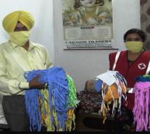 हिमाचल निवासी ने पगड़ियों से मास्क से तैयार कर गरीबों में बांटे