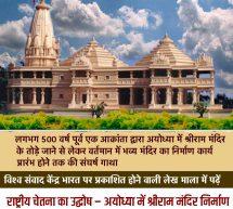 राष्ट्रीय चेतना का उद्घोष : अयोध्या में श्रीराम मंदिर का निर्माण – 8