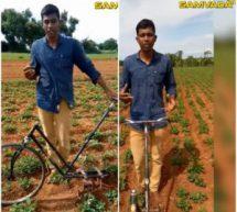 #AtmanirbharBharat – Son of a farmer develops deweeding equipment from waste