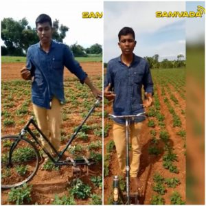 #AtmanirbharBharat – Son of a farmer develops deweeding equipment from waste