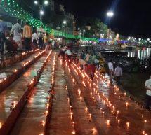 दीपकों की रोशनी से जगमग धर्मनगरी चित्रकूट, राममय हुआ कण-कण