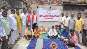 Bhainsa Violence – Sevabharati Telangana to construct houses for Hindu families who lost their homes due to attack by Islamist mob