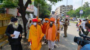 बीटीपी की गतिविधियों से रुष्ट जनजाति संत समाज नेकानूनी कार्रवाई की मांग की