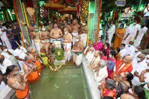 Lord Venkateswara got glorious Chakrasnanam in Tirumala