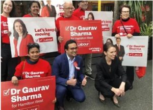 New Zealand – Newly elected MP Dr. Gaurav Sharma doc takes oath in Sanskrit!