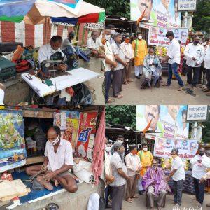 Samajik samrasata vedika that honours Shoe makers in Vijayawada