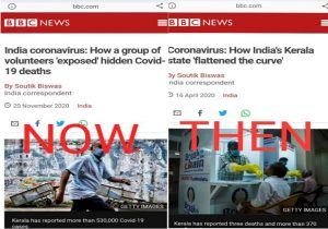 BBC makes U-turn & reports – 'Kerala govt's massive COVID-19 cover-up exposed!'