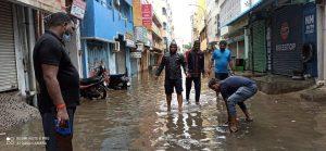 Tamil Nadu – Seva Bharati Swayamsevaks in action during Nivar Cyclone