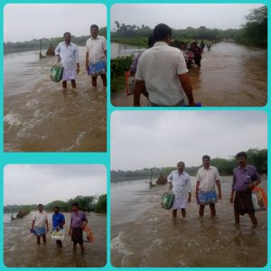 #NivarCyclone – RSS Swayamsevak saved a village with his adventure