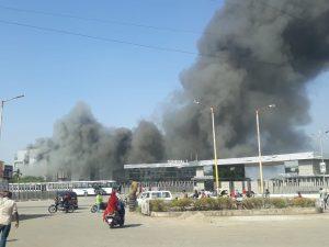 पुणे के सीरम इंस्टिट्यूट में लगी भीषण आग, दमकल विभाग की गाड़ियां मौके पर मौजूद
