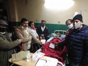 कैंसर से जूझ रहे, अस्पताल में भर्ती देवीचंद ने भी दिया श्रीराम मंदिर के लिए समर्पण