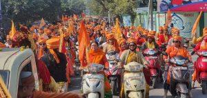 मां जानकी शक्ति वाहन शोभायात्रा से राममय हुआ कानपुर