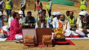 श्रीराम मंदिर निर्माण शुरू, वैदिक विधि से हुआ नींव भराई का पूजन
