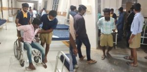 Junior Kabaddi Tournament – Swayamsevaks rushed to help injured in gallery collapse at Suryapeta