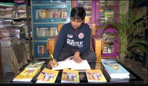 10 साल के आयुष ने उड़िया में लिखी रामायण, टीवी पर रामायण देख मिली प्रेरणा