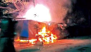 Bhainsa – Violence Flares Up Again, Youth Roam Around Branding SWORDS