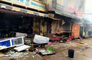 राजस्थान – छबड़ा में जिहादी भीड़ ने हिन्दुओं की दुकानों को लूटा, फिर आग लगा दी