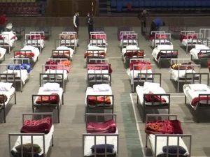 Srinagar – Indoor stadium turned into a COVID care centre