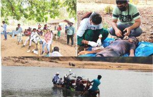स्वास्थ्य विभाग की टीम ने नक्सल प्रभावित क्षेत्र के गांव में जाकर किया टीकाकरण