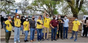 Fort Bend County and community partners distribute groceries and PPE in Rosenberg