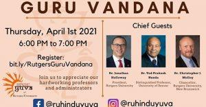 First Ever Unique program in Rutgers university NJ – Guru Vandana