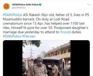 Sewa – Delhi cop assisted in 1100 cremations, even postpones daughter's wedding amid COVID-19 duty