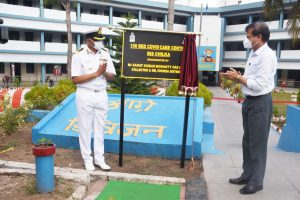 150 Bed Covid Care Centre established by Indian Navy at Khurda District In Odisha
