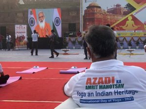 #InternationalDayofYoga – Yoga programmes organised at 75 heritage locations across India with the theme 'Yoga, An Indian Heritage'